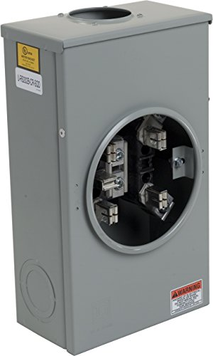 Square D by Schneider Electric URS202BCR 200A Ring-Type Meter Socket With No Bypass