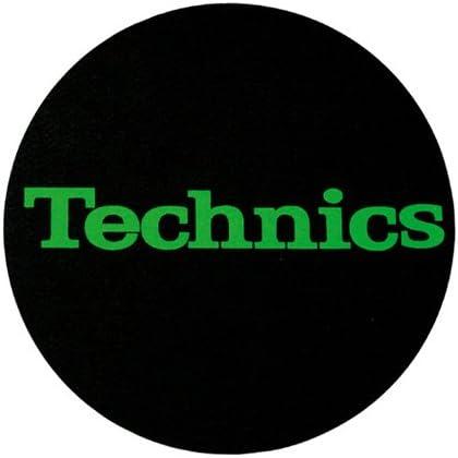 2/pezzi Slipmat della Factory Technics Schrift Verde Slipmat