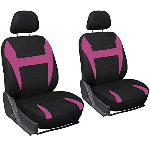 pink and black cover seat - 7