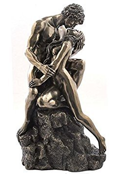- 10.75 Inch Embracing Nude Figures The Lovers Decor Display
