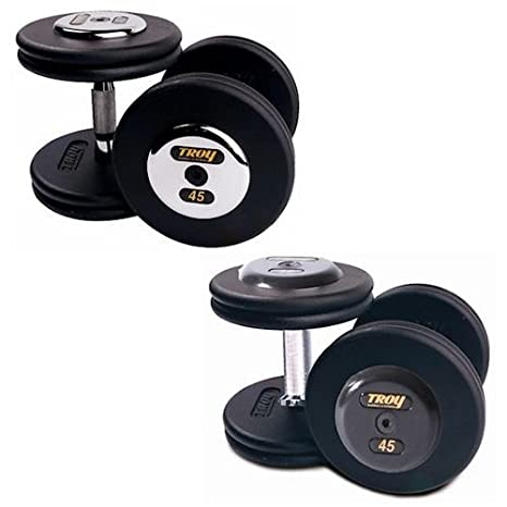 65 kg mancuernas fundido profesional en negro tapa [conjunto de 2]: de goma: Amazon.es: Deportes y aire libre