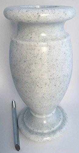 Optimum Memorial Cemetery Flower Vase (Simulated White Granite Plastic)