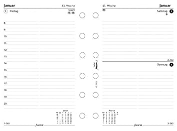Filofax 000017 - 68246 Pocket 1 día por página Alemán 2017 ...