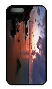 iPhone 5S Case - Customized Unique Design Ocean Background New Fashion PC Black Hard