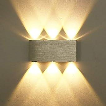 Gut ETiME 6W LED Wandleuchte Warmweiß Up Down Modern Wandlampe Aus Aluminium Für  Wohnzimmer Schlafzimmer Treppenhaus Flur