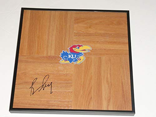 Bill Self Signed Framed 12x12 Floorboard Kansas Jayhawks Legend Proof Coach - Autographed College Floorboards