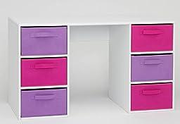 4D Concepts Girl\'s Student Desk, White