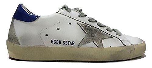 GOLDEN GOOSE 2017 - Superstar basse bianche con stella in camoscio