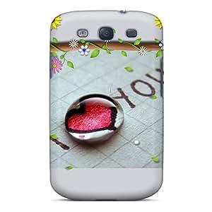 [cEG15424NzOr] - New I Love You Protective Galaxy S3 Classic Hardshell Case