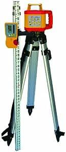 PLS Laser PLS-60583 PLS HVR 505R Mid Range Rotary Laser Kit, Yellow/Red