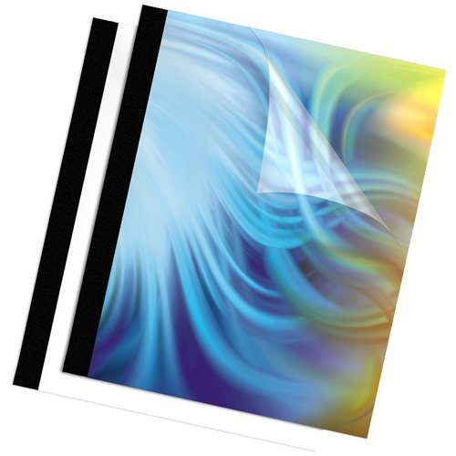 Fellowes Folder - Fellowes Binding Thermal Presentation Covers, 1/2 Inch, Black, 10 Folders up to 120 sheets (52566)