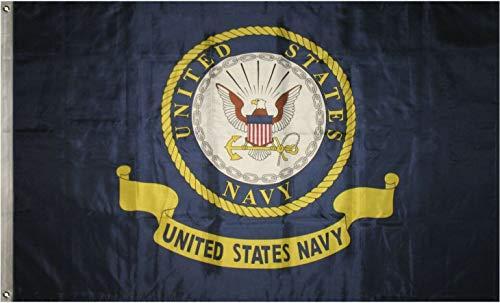 Ant Enterprises 3x5 US Navy Coat of Arms Seal Crest Flag 3'x5' Banner Fade Resistant Premium