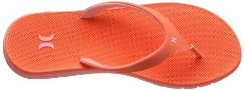 Hurley (Shoes) Phantom Nike Free Sandal - Chanclas Mujer Rojo (Rot (Hot Coral))