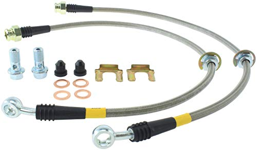 StopTech 950.47501 Stainless Steel Braided Brake Hose Kit Rear Stainless Steel Braided Brake Hose Kit ()