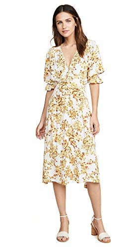 - Faithfull The Brand Women's Rafa Midi Dress, Goldie Floral, Medium