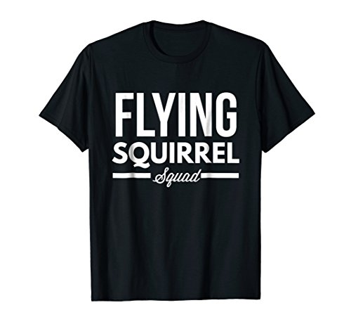 Red Squirrel Flying (Funny Flying Squirrel Squad T-shirt)