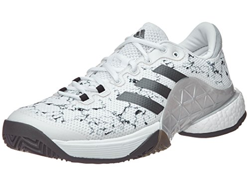 ADIDAS Men US 8.5 White Black Tennis Shoe adiTUFF Team Competition Athletic 74a5f9900