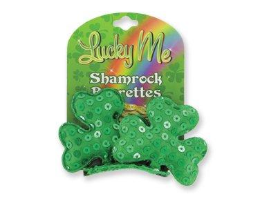 Lucky Me Shamrock 2 pack Shamrock Sequins Hair Clip Barrettes