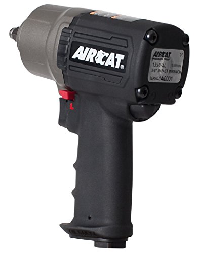 AIRCAT 1350-XL Composite High-Low Torque Impact Wrench, 3/8-Inch, Black/Titanium by AirCat