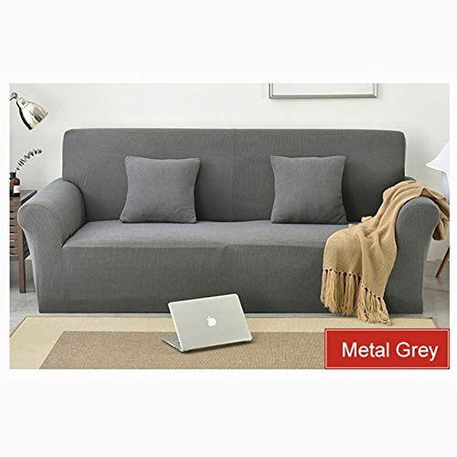 AAG Knitted Cotton Sofa Cover Slipcovers AllInclusive Couch Case for Different Shape Sofa Solid color Couch Corner Cover Cases   12, Pillow Case