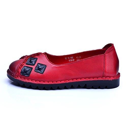 Retro estilo folk zapatos de suela suave/ zapatos de baja con su madre A