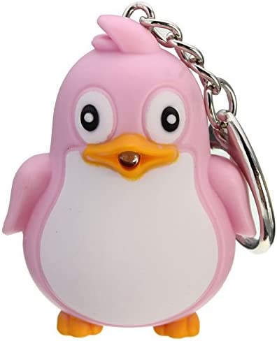 [해외]Shineweb Cute Key Ring Animal Penguin LED LightSound Key Chain for?Women?Men?Friend / Shineweb Cute Key Ring Animal Penguin LED LightSound Key Chain for?Women?Men?Friend