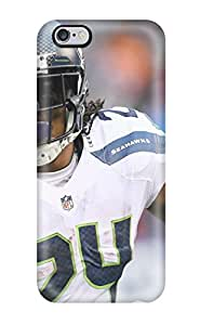 Flexible Tpu Back Case Cover For Iphone 6 Plus - Seattleeahawks Nfl Footfall