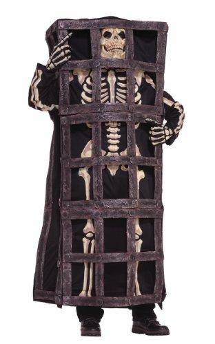Skeleton in Cage Adult Costume Size Standard