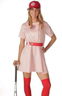 A League of Their Own Rockford Peaches AAGPBL Baseball Womens Costume Dress