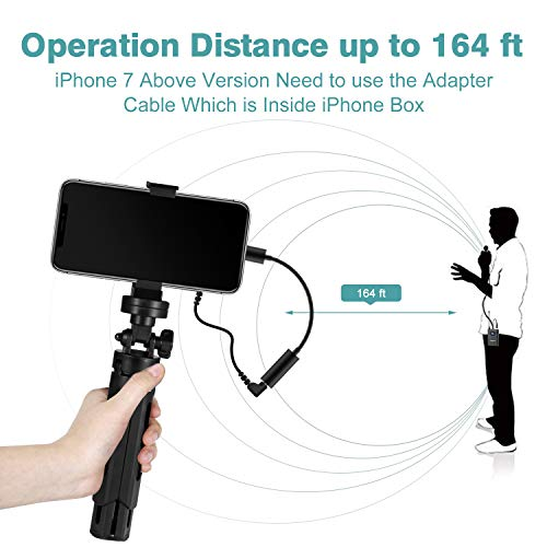 wireless lavalier microphone for iphone android phone dslr camera mobile professional lavalier. Black Bedroom Furniture Sets. Home Design Ideas