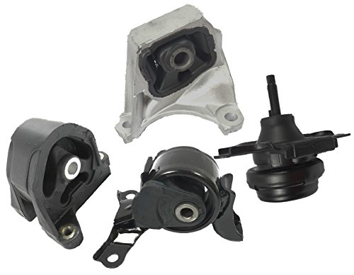 Front Right Rear Engine Motor and Trans Mount Set of 4 for 2002-2006 Honda Civic Si 2.0L Acura RSX Type-S 2.0L Manual ()