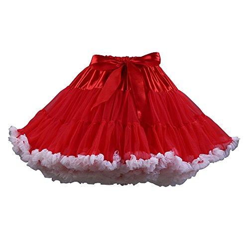 Danse OCHENTA tutu soie Mini Jupe Red Tulle Blanc de femmes de jupe Jupe en ballet Femme mousseline TwO8xXTvqr