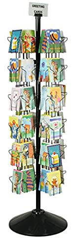 Spinning Greeting Card Floor Rack with (72) 5x7 Pockets, 70