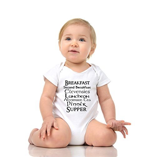 59 BABY ROMPER SHORT ONESIE UNISEX FUNNY 7 BABIES MEALS GIFT POLY WRAPPED A&G BRAND (0-6 Months, White)