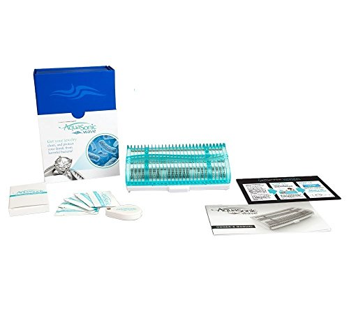 Aquasonic Wave Jewelry Cleaning System, The First Cleaner to Offer Truly Professional Cleaning Results and Removes 99% of all Harmful Bacteria, 100% Safe