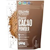 LIVfit Superfood Organic Cacao Powder 1 lb, 100% Organic Cacao Powder Enjoy A Delicious And Guilt-Free Chocolate Superfood, Easy Substitute For Cocoa, Produced by BetterBody Foods
