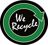 NMC HH100 2'' x 2'' PS Vinyl Hard Hat Emblem w/Legend: ''We Recycle'', 12 Packs of 25 pcs