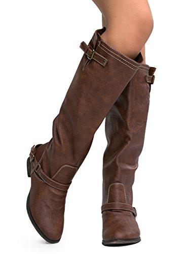 Breckelles Dames Outlaw-81 Kniehoge Laars Bruin Tan ***