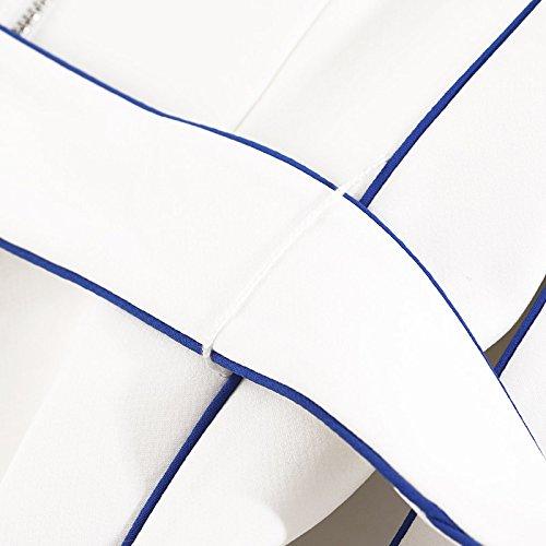 falda De En White Xuanytp Cintura Vestido Sin Blanco Mangas La Encaje Vestir znxBw5Fq