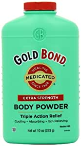 Gold Bond Medicated Extra Strength Powder, 10-Ounce Containers (Pack of 3)