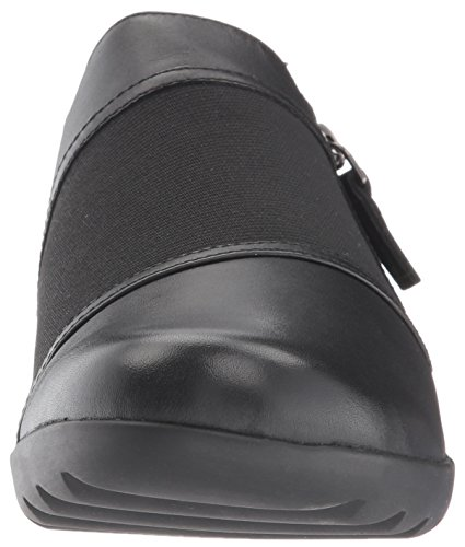 CLARKS Womens Medora Gale Slip-On Loafer, Black, 7 W US