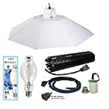 ACE- Hortilux Metal Halide Grow Lamp 1000W- Parabolic Chrome Reflector 4 ft Complete Kit