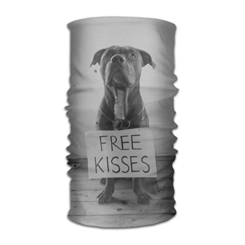 Pit Bull Free Kisses Unisex Variety Scarf Head Scarf Scarves Face Masks For Sale -