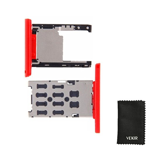 D Card Tray Replacement Compatible with Nokia Lumia 1520(Red) VEKIR Retail Packaging ()