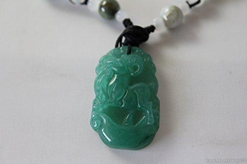 Green Jade Lucky Chinese Zodiac Sheep Goats Amulet Pendant Talisman