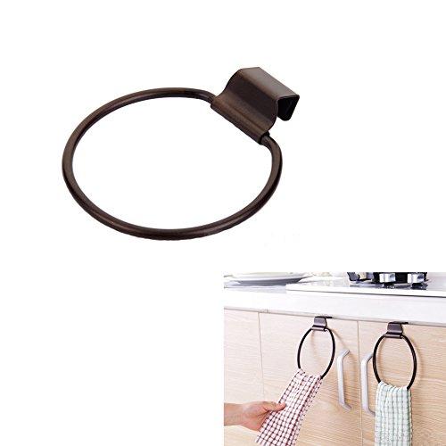 Vivian Towel Ring Over the Cabinet Door Kitchen Dish Towel Holder Hook Ring Bronze