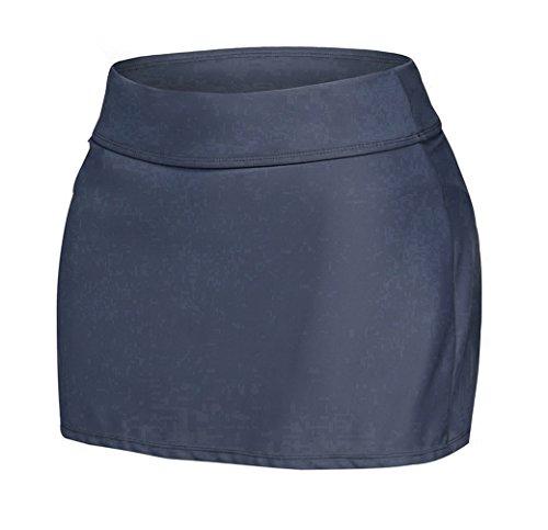 Nicetage Damen Badeshorts Baderock Strandrock Bikinihose Bikini Shorts Strand Rock Mit Integrierter Hose Grau