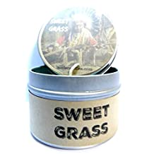 Sweet Grass (Native American Aroma) 4oz All Natural Soy Candle Tin (Take It Any Where)