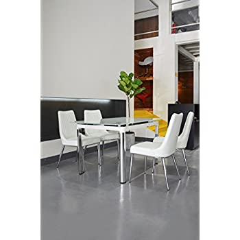 Bellona 5 Piece Extendable Dining Set Table WF330 (White)