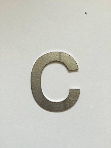 Número Post de la placa de puerta número adicional números de letra c talla XL de acero inoxidable V2A